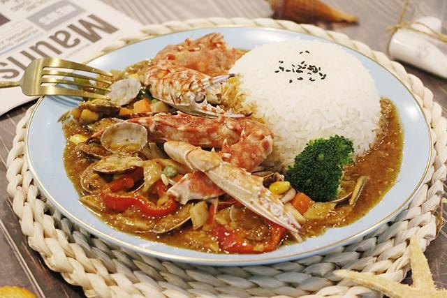 虾面虾面招牌——海鲜焖面之大虾扇贝蟹钳
